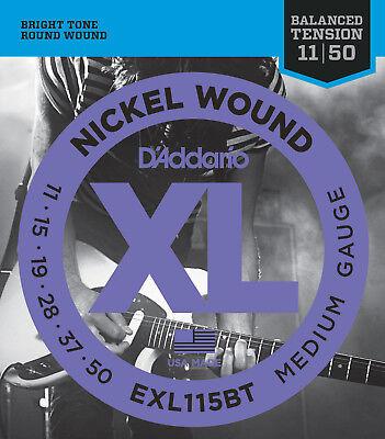 d 39 addario exl115bt electric guitar strings 11 50 medium balanced tension 19954984038 ebay. Black Bedroom Furniture Sets. Home Design Ideas