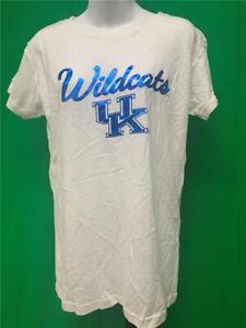 Nuevo-Kentucky-Wildcats-Mujer-Talla-L-Grande-Blanco-J-America-Camisa