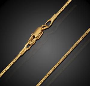 18k-Gold-Schlangenkette-vergoldet-lang-60cm-1MM-duenn-Damen-Herren-Halskette