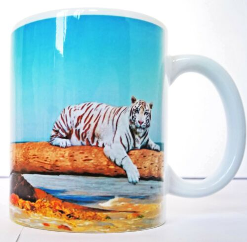 Personalised gift text mugs cup with tiger for everyone on a birthday father day