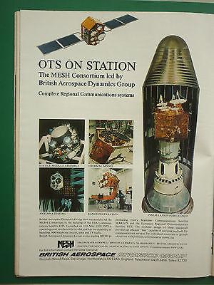 Logisch 11/1978 Pub British Aerospace Dynamics Mesh Consortium Matra Ots Satellite Ad Om Gezondheid Effectief Te Stimuleren