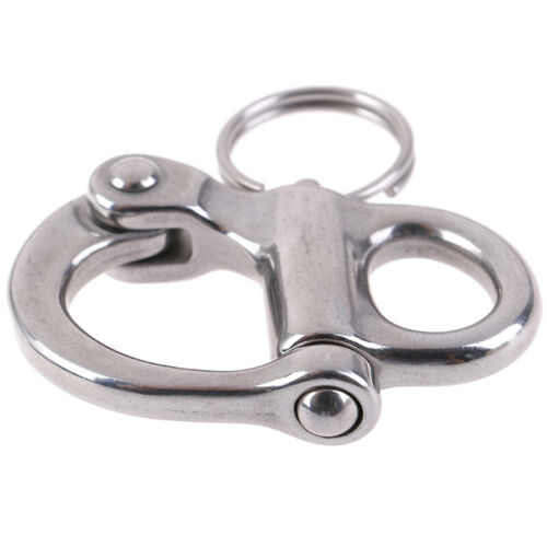 316 Stainless Steel Rigging Sailing Fixed Bail Snap Shackle Yacht Outdoor LiODCA