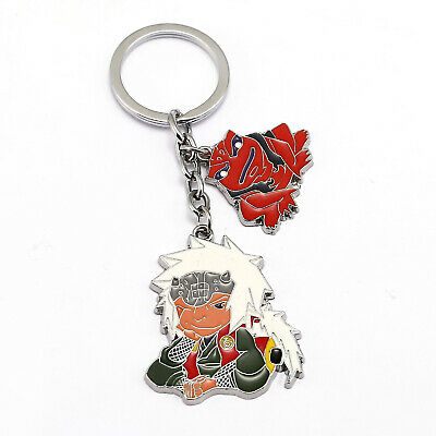 Naruto Killer B Cosplay Metal Keychain Bag Car Key Ring Fan Student Gift New