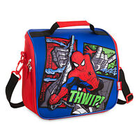 Disney Store Spiderman Lunch Box Tote Insulated School