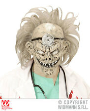 Mens Zombie Doctor 3/4 Mask With Wig for Halloween Living Dead Fancy Dress