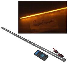 56cm 48 LED 5050 Waterproof Flash Car Knight Rider Strip Lights w/ Remote Amber