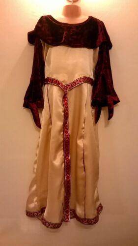 1930 S 40 S WWII Victorien Romain Viking Anglo Saxon Tudor village de Jeune Fille Costume