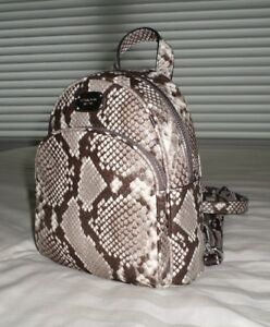 7210005f1f2d NWT Michael Kors ABBEY XS Python-Embossed Leather Backpack Crossbody ...