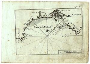 Carte Geographique Andalousie.Carte Ancienne Roux Antique Map Mediterranee C1790 Malaga Andalousie