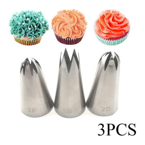 1//4Pcs Large Icing Piping Nozzle Russian Pastry Tips Baking Mold Cake Decor DIY