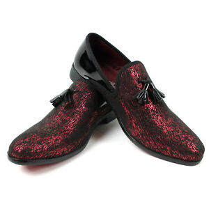 wholesale price 50% price hot-selling genuine Details about Men's Slip On Black/Red Velvet Tassel Tuxedo Loafers Formal  Dress Shoes SPK 6