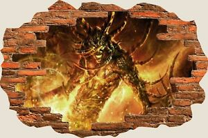 3D-Hole-in-Wall-Fantasy-Evil-Creatures-Ghouls-View-Wall-Stickers-Decal-Mural-982