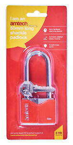 Heavy-Duty-50Mm-Long-Shackle-Rhombic-Chrome-Plated-Iron-Padlock-Safety-Security