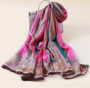 Silk-scarf-Women-shawls-long-print-wraps-pashmina-ladies-Scarves-beach-stoles