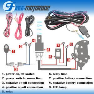Universal LED Light Bar Fog Light Wiring Harness Kit 40A 12V Switch Relay  Fuse | eBay | Relay Kit Wiring Diagram |  | eBay