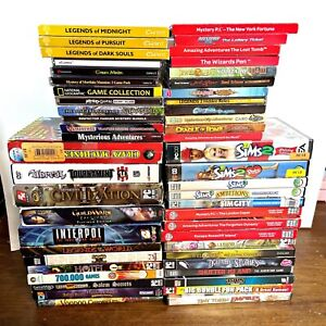 Lot of (51) PC Games - Sims, Mystery PI, Unreal Tournament, Guild Wars, more