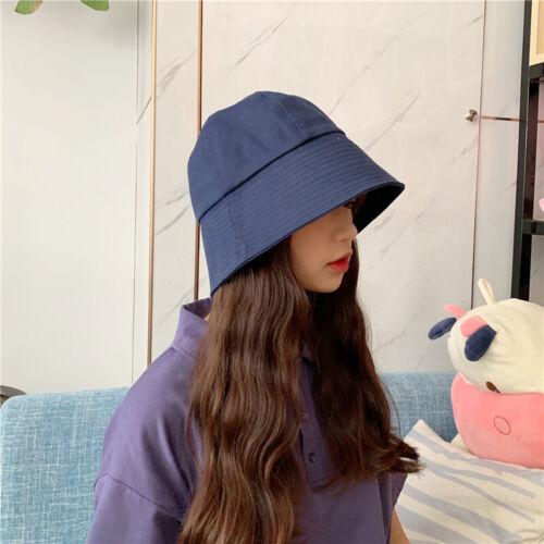 New Fashion Korea Bucket Hats Women Solid Color Headwear Sun Hat Fisherman Cap