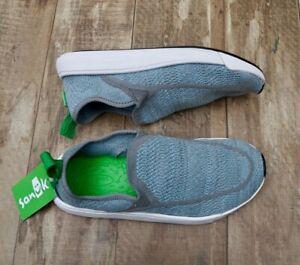 NEW-Sanuk-Chiba-Quest-Knit-Women-s-Shoes-Select-a-Size-Light-Blue-Slip-On-Shoes