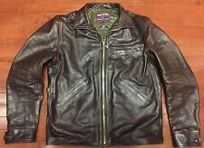 Eastman Leather Clothing Horsehide Californian Jacket American Walnut Size 42 L