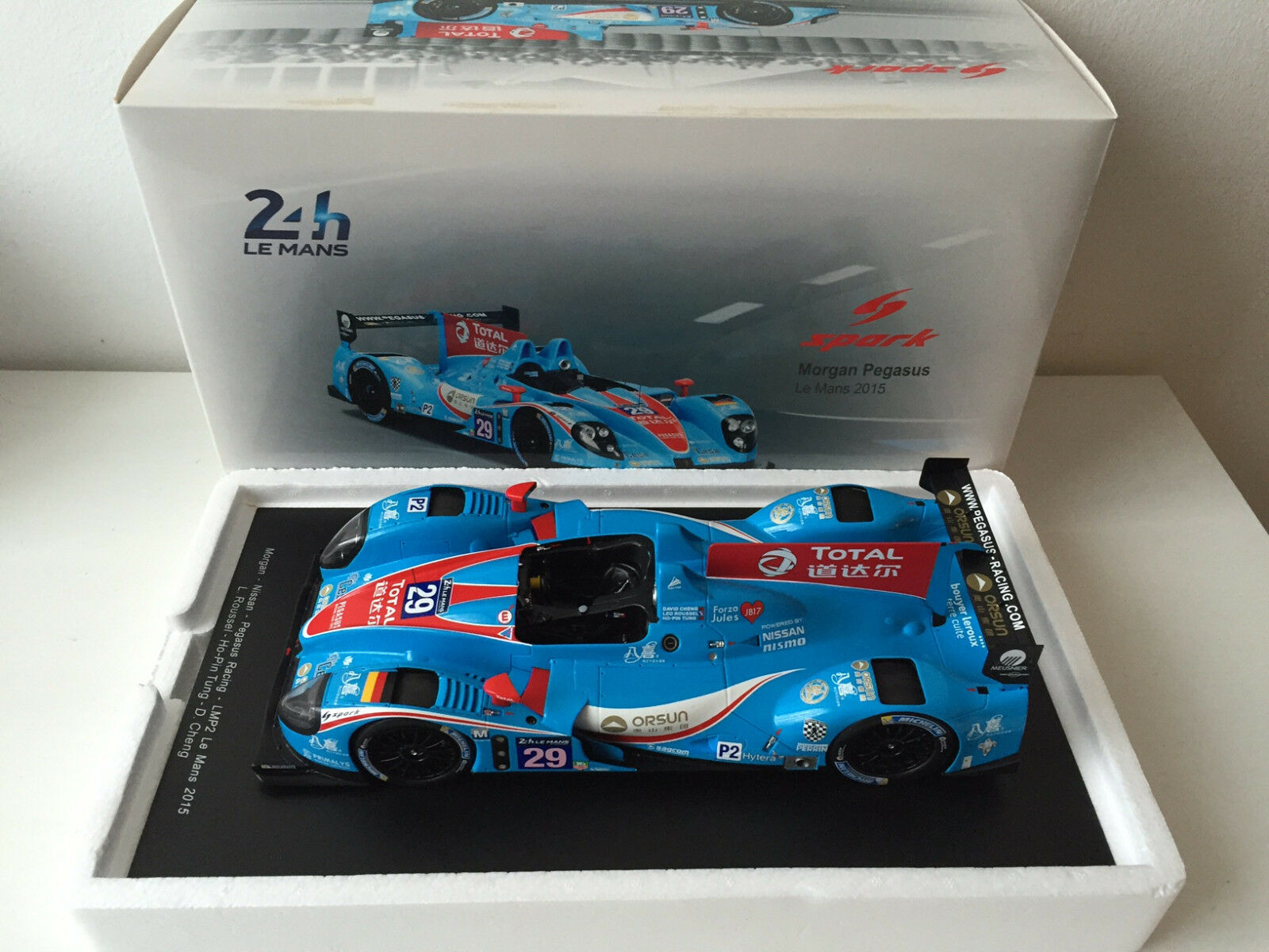 Morgan Nissan Pegasus Racing LMP2 Le Mans 2018 Spark  RARE