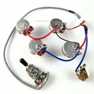 details about wiring harness for import lp sg es 335 style guitars just attach your pickups! ES- 335
