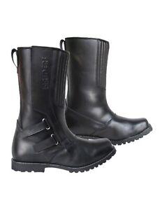 4Riders-Chopper-waterbesten-mannen-leer-toeren-motor-laarzen-voor-winter-zwart