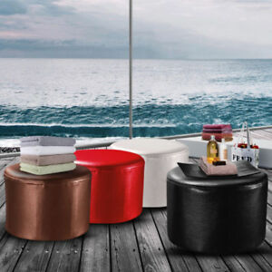 PU-Leather-Ottoman-Round-Footstool-Living-Room-Bedroom-Chair-Children-Baby-Stool