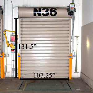 ... Overhead-Door-Corp-Roll-Up-11-039-x- & Overhead Door Corp. Roll-Up 11\u0027 x 9\u0027 Freight Loading Dock Door w ...