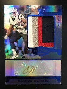 2019 Panini Plates & Patches NEW ENGLAND PATRIOTS Damien Harris /50 RPA 4 COLORS