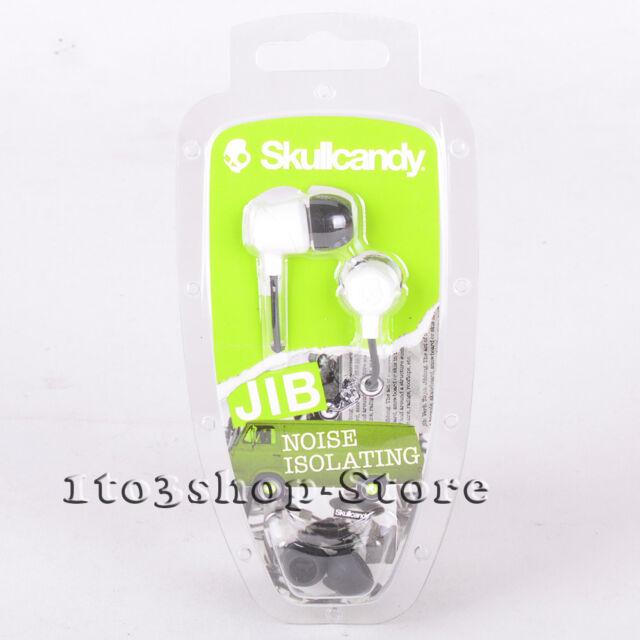 Skullcandy JIB DUB In-Ear EarBud Buds Stereo Earphones Headphones (White) NEW