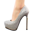 Women-039-s-Pointed-Toe-5-3-034-High-Heels-Glitter-Silver-Platform-Pumps-Multiple-Size thumbnail 11