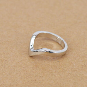 VShape Mid Rings Thin Band Womens Arrow Above Knuckle Ring Silver