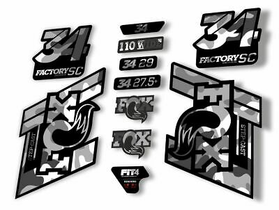 FOX 34 Step Cast SC 2019 Fork Suspension Factory Decal Stickers Adhesive Gray
