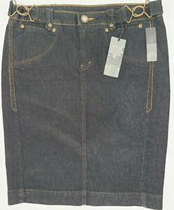 Bisou-Bisou-Dark-Denim-Collection-Jean-Skirt-Size-8-Short-Straight-NWT
