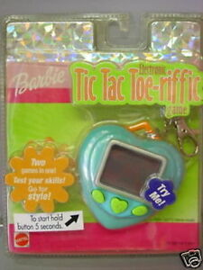BARBIE-GAME TIC TAC TOE-RIFFIC GAME-MATTEL 27992-ANNO 2001-BATTERIE SCARICHE-1