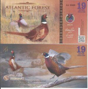 ATLANTIC-FOREST-19-AVES-DOLLARS-2016-LOTE-DE-5-BILLETES