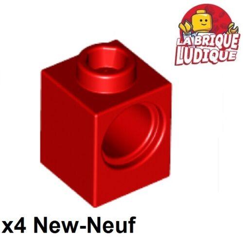 Lego Technic 4x Brique Brick 1x1 hole rouge//red 6541 NEUF