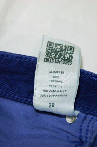 Super Femme Skinny 29 Halle Taille Religion Cropped Pantalon Bleu Nouveautés True q74HxHRwI