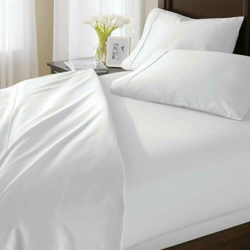 Super Deep Pocket Bed Sheet Set 6 PCs White Solid 100/% Cotton 1000-TC All Size