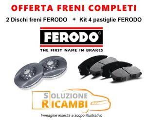 KIT-DISCHI-PASTIGLIE-FRENI-POSTERIORI-FERODO-BMW-5-039-81-039-87-518-i-77-KW-105-CV