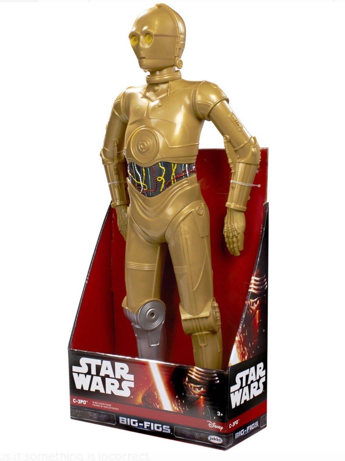 Ven a elegir tu propio estilo deportivo. Estrella Wars Jakks grandes higos-C-3PO clásico-plateado clásico-plateado clásico-plateado de la pierna Articulado 48cm De Alto  tiempo libre