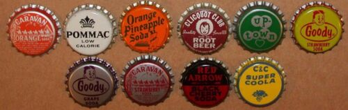Vintage soda pop bottle caps ALL WITH PICTURES Collection of 26 different unused