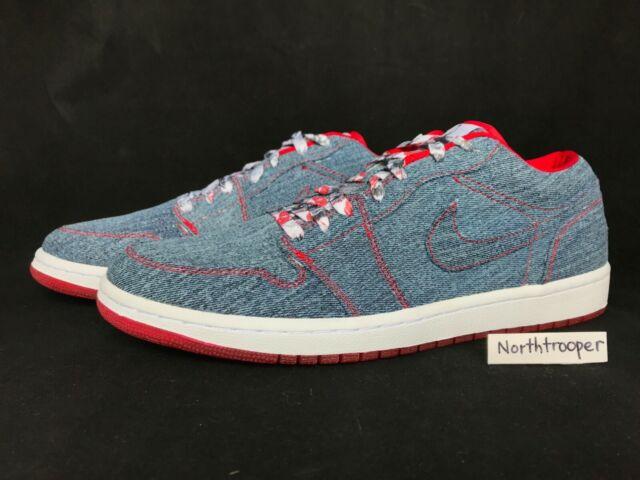 15a181cbca1c Nike Air Jordan I 1 Retro Low Ca Denim white-sport Red Denim 315921 ...