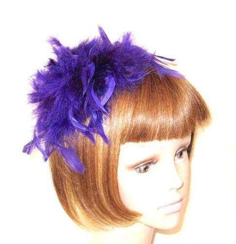 Purple Chandelle Feather Hair Hat Pin Society Decoration Red Hat Ladies
