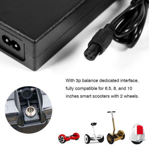 2A 42V Charger Adapter for Electric Smart Self Balancing Scooter Hoverboard US