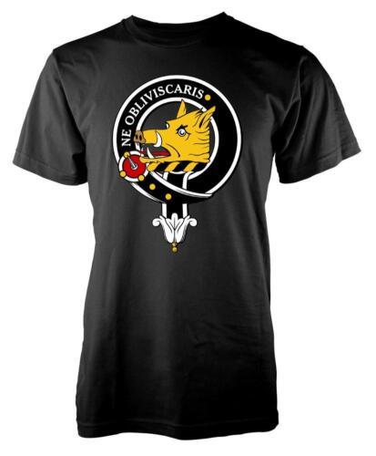 BNWT Campbell Tartan Clan Scozzese Scozia FAMIGLIA BAMBINO T-shirt 3-15 anni