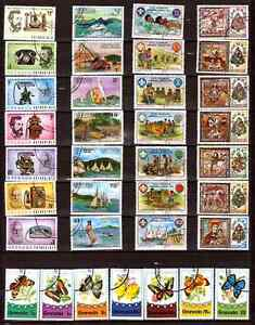 GRENADA-5-series-completes-telephone-voiliers-boyscout-papillons-noel77-339T1