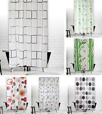"New Modern Bathroom Shower Curtain Extra Long Wide 180 x Drop 200 cm (71""X78"")"