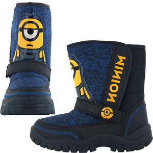 Minions-Snow-Boots-Childrens-Despicable-Me-Snow-Boots-Blue-Size-7-13