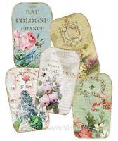 Vintage Image Shabby Romantic Perfume Labels Waterslide Decals Lab411